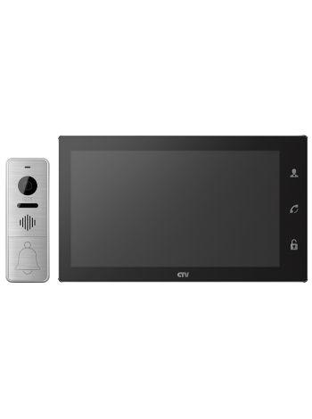 """CTV-DP4106AHD (черный) комплект цветного видеодомофона с экраном 10"""" с Touch Screen формата AHD, поддержкой разрешения Full HD и детектором движения"""