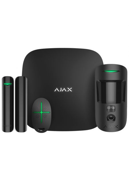 Ajax StarterKit Cam Plus (черный) комплект сигнализации с фотоверификацией тревог и поддержкой LTE
