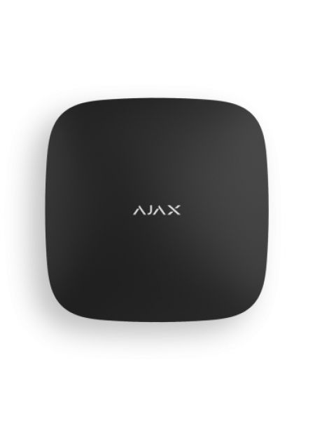Ajax Hub 2 Plus (черный) смарт-централь с фотоверификацией тревог и четырьмя каналами связи: Ethernet, Wi-Fi, 2хSIM-карты