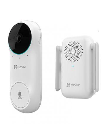 Ezviz DB2C (CS-DB2C-A0-1E3WPBR) беспроводной дверной видеозвонок с дополнительным звуковым модулем