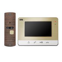 CTV-DP401 (золото) комплект видеодомофона
