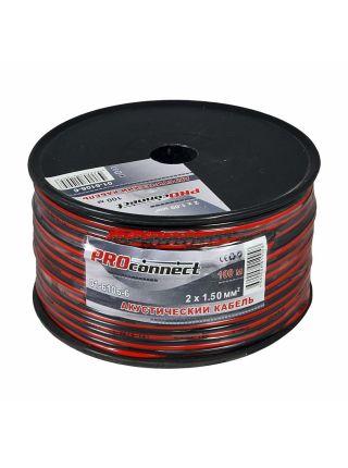 Кабель акустический ШВПМ 2х1,50 мм², красно-черный, бухта 100 м