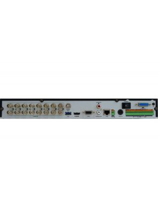 HiWatch DS-H216QP 16-ти канальный гибридный HD-TVI регистратор с технологией PoC