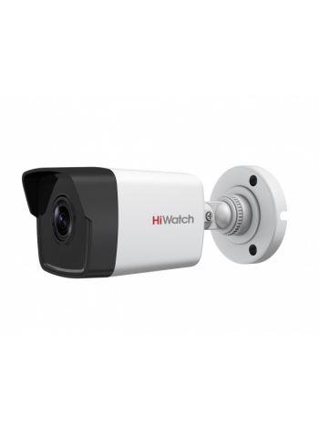 HiWatch DS-I450M(B) (4 мм) 4Мп уличная цилиндрическая IP-камера с EXIR-подсветкой до 30м и встроенным микрофоном