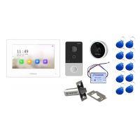 Комплект контроля доступа с домофоном HiWatch DS-D100IKWF и замком-защелкой с удержанием на 300кг