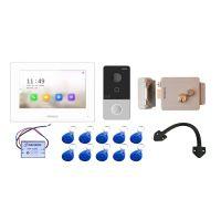 Комплект контроля доступа с домофоном HiWatch DS-D100IKWF и электромеханическим замок из окрашенной стали