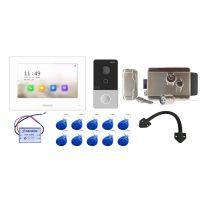 Комплект контроля доступа с домофоном HiWatch DS-D100IKWF и электромеханическим замок из нержавеющей стали