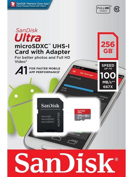 Sandisk ULTRA microSDXC 256 ГБ [SDSQUAR-256G-GN6MA]